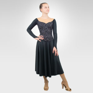 Vintage chain ice dance dress, latin dance dress