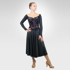 Vintage lace ice dance, latin dance dress